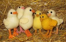 KNITTING PATTERN ONLY-BABY CHICK CHICKS TOY ANIMAL KNITTING PATTERN