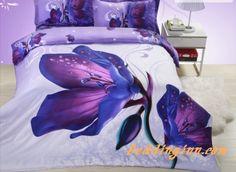 #amazing #magnolia #bedding Amazing Purple Magnolia Flower Print 4 Piece Polyester Bedding Sets  Buy link==>http://goo.gl/s4zG2A Live a better life, start with @beddinginn