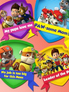 No job is too big for mom! Wear these printable PAW Patrol stickers with pride on Mother's Day.