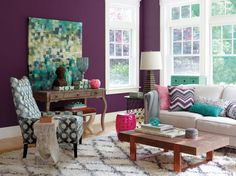 Pattern play! Mix and match decor with bold geometric patterns to add visual interest to any room. #happybydesign