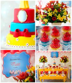 Snow White themed birthday party with lots of CUTE IDEAS via Kara's Party Ideas! full of decorating ideas, dessert, cake, cupcakes, favors and more! KarasPartyIdeas.com #snowwhite #snowwhiteandthesevendwarfs #snowwhiteparty #partystyling #eventstyling #partyideas (2)