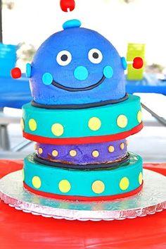 Robot Party Cake!