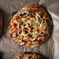 Moje dietetyczne fanaberie: Nie takie znowu mini te pizze, a jedna poniżej 400 kcal!