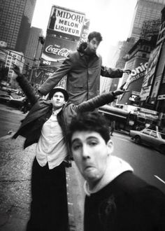 1985 Beastie Boys in Times Square...one lonely Beastie I be, all about myself without nobody, the sun is beatin down on my baseball cap