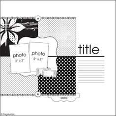 .scrapbook page layout