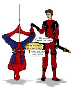 Spidey and Deadpool by Lovisa Davidson