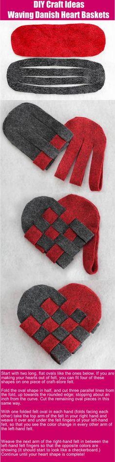 DIY craft ideas: Waving Danish Heart Basket
