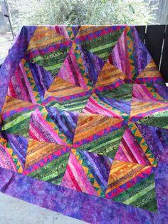 amish string, purple, unruli quilt, log cabins, happy colors