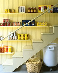 """Secret pantry anyone?  Make the most of space you have - """"31 Days - 31 Minutes to a More Organized Life!""""    (simplify, declutter, resolution, organize, kitchen, storage)"""