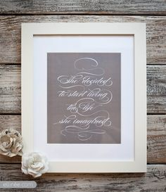 DIY Wall Art Quote Printable by Ellinée Design House