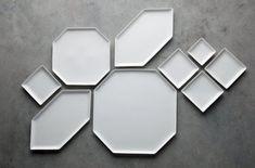 mirror, geometric shapes, plate, ceram, serving trays