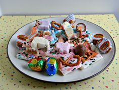 Easter Bark made with your favorite Easter candy!  (Cadbury eggs, Reese cups, Bunny Mallows, and more!)