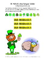 St. Patrick's Day Tongue Twisters R, SH, CH Sounds - pinned by @PediaStaff – Please Visit  ht.ly/63sNt for all our pediatric therapy pins