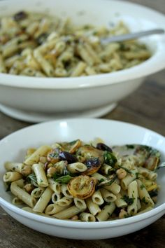 Meatless Monday: Penne Pasta Salad with Zucchini, Chickpeas and Olives