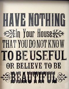 Seriously. Clutter is stress-inducing ~ & not just in a house ... in life too.