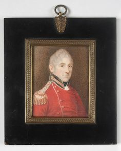 The 73rd Regiment of foot commanding officer Lachlan Macquarie, ca. 1819, watercolour on ivory miniature.