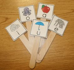 FREE pics to create your own short vowel sticks.