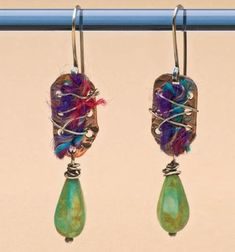 Make Easy Metal Jewelry: 5 Tips and Encouragements to Help You Make the Leap - from Jewelry Making Daily: The Interweaving earrings by Mary Jane Dodd from Easy Metal Jewelry