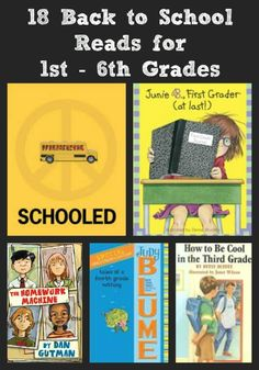 {Back to School Books for 1st - 6th Grades} - great reads for kids as they enter a new grade!