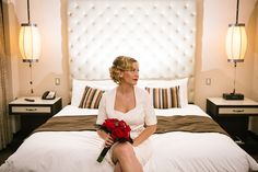 Gorgeous Megan in her one-of-a-kind wedding gown inspired by Marilyn Monroe. Gown by Janice Martin Couture - www.janicemartin.net  Photo by Ricky Stern - www.miamiphotographer.net