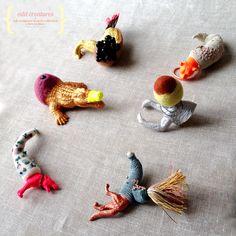 *Odd creatures* Soft sculpture brooch by Maria João Ribeiro for Kjoo store. https://www.etsy.com/listing/199095259/odd-creature-6?ref=listing-0