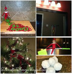 Over 50 Elf On The Shelf Ideas PLUS a Calendar Download & Printables {Domestic Femme} #ElfOnTheShelf #ElfOnTheShelfIdeas #Idea #Nice #Naughty #Good #Bad #Boys #Girls #Printable #Calendars #Picture #Pictures #Photo #Photos #Coloring #Christmas #Holiday #Holidays #Traditions #Tradition #Elves #Activity #Activities #Kids #Minecraft #Creeper #Funny #Mischievous #A #Kids #Toddlers printables, christmas holidays, elf on shelf, 50 elf, elfontheshelf idea, domest femm, elves, kid, printable calendars