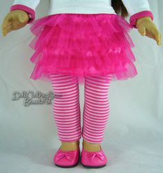 Hot Pink Tutu Mini Skirt made for American Girl Doll Clothes TOO CUTE! #Sophias