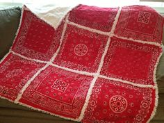 red and white bandana quilt