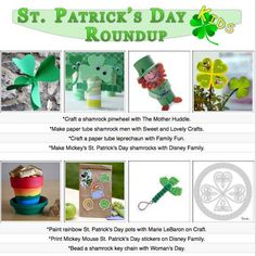 Kid's St. Patrick's Day craft tutorials and activities!
