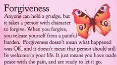 Forgive does not mean forget