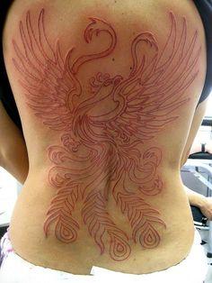 Tatuagem Red Fenix Phoenix Tattoo WIP by micaeltattoo, via Flickr