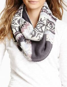 Snow Bunny Knit Eternity Scarf etern scarf, cloth, infinity scarfs, snowflak scarf, snow bunnies, bunni knit, closet, scarv, knit etern