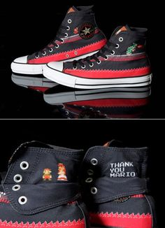 mario castle high tops