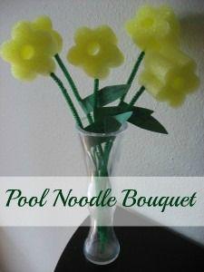 Pool Noodle Flowers