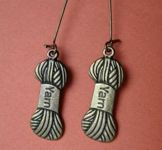 Autumn is Coming -- Time to knit (or crochet!) earrings on French wires. $7.00.