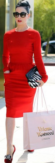Dita in RED!