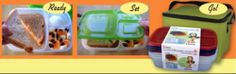 """easy lunch boxes system - must try this....i wonder how it compares to our current """"pack-it""""...."""