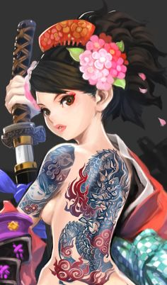Dragon tattoo promotional art for MURAMASA: THE DEMON BLADE