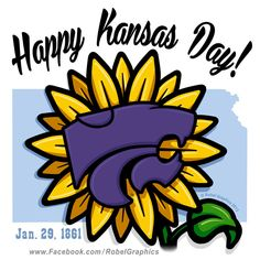 Kansas Day K-State Powercat posted on my Robel Graphics Facebook page, to help celebrate the State's birthday. If you were born here, grew up here, live here now, or only lived here a little while, celebrate your Kansas heritage.