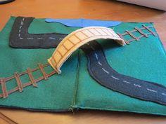 travel road, sew, felt road, road set, roads