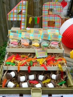 Tackle Box Decor at Fishing Themed Party
