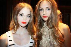 Orange Lips For Fashionistas