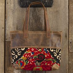 Thai Vintage Leather Tote