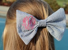 bow black, seersucker hair bow, hair bows