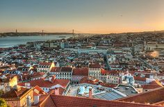 #Lisbon seven hills overlooking the river Tagus is famed for its year-round sunshine and beauty, Its grand architecture dazzles and its old-world charm mingles with chic streets, galleries, lively nightlife and a centre which gives way to sandy beaches just minutes away. #Portugal