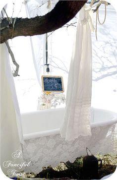 I would LOVE to take a bath outdoors!