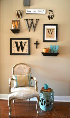 Monogram Gallery Wall- Sondra Lyn at Home
