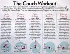 Couch exercises for lazy days!