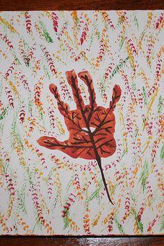 Fall Leaf Handprint