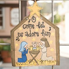 Glory Haus Nativity Scene Burlee